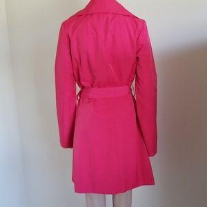 Black Rivet Jackets & Coats - Black Rivet pink trench coat with belt size M